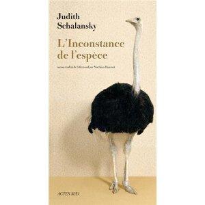 L'INCONSTANCE DE L'ESPECE – Judith Schalansky