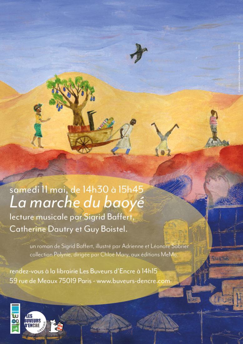 """SAMEDI 11/05 LECTURE MUSICALE """"LA MARCHE DU BAOYE"""""""