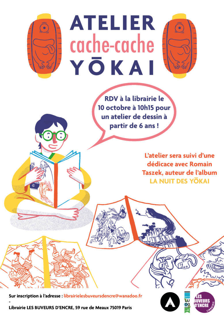 Samedi 10/10 Un atelier créatif pour dessiner des Yokaï